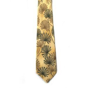 Tommy Bahama Yellow Silk Neck Tie Palm Leaves